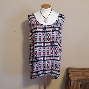 American City Wear patterned tanktop size 2X